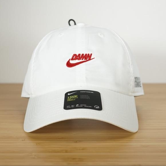 Nike X Kendrick Lamar DAMN Cap White Red Velcro 89b9a197853c
